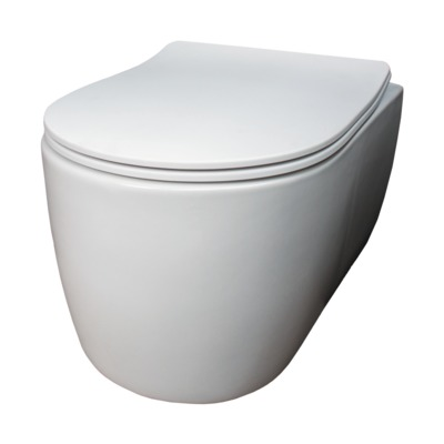 Qisani Alfa Comfort toiletzitting soft closed easyfix hoogglans wit OUTLET