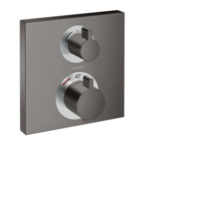Hansgrohe Ecostat afdekset thermost. 2 functies brushed black chrome brushed black chrome