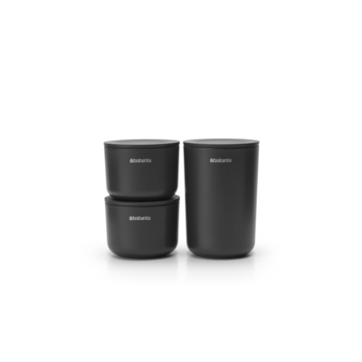 Brabantia ReNew Kit 3 récipients Dark Grey Gris