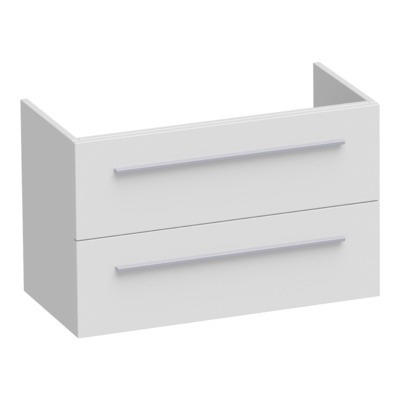 Saniclass Exclusive Line Small onderkast 80.2x39x50cm 2 lades met softclose MDF hoogglans wit