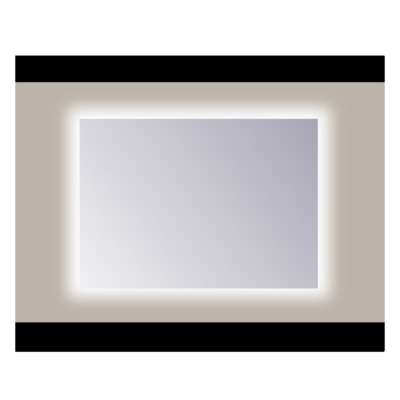 Sanicare Q-mirrors spiegel zonder omlijsting / PP geslepen 75 cm rondom Ambiance cool White leds