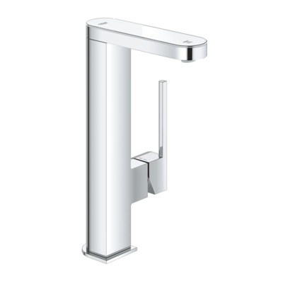 Grohe Plus 1-gats wastafelkraan L-size m. digitale LED display moon white/chroom