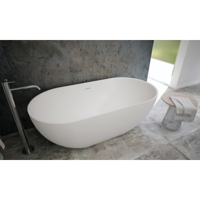 Ideavit SolidEra Vrijstaand bad 150x76cm Solid surface wit