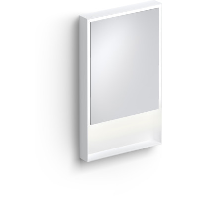 Clou Look at Me spiegel 50cm LED-verlichting IP44 mat wit
