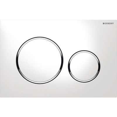 Geberit Sigma20 plaque de commande blanc/chrome/blanc