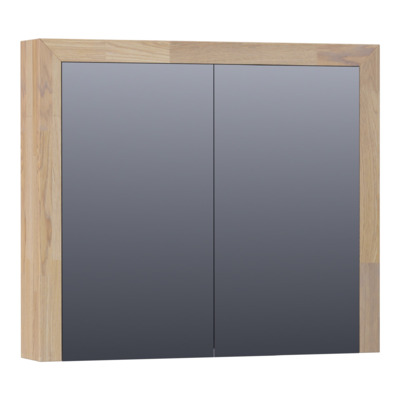 Saniclass Natural Wood spiegelkast 80 2 deuren Grey Oak