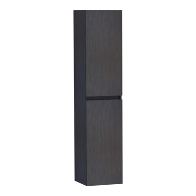 Saniclass Solution Armoire colonne 35x160cm Noir brillant