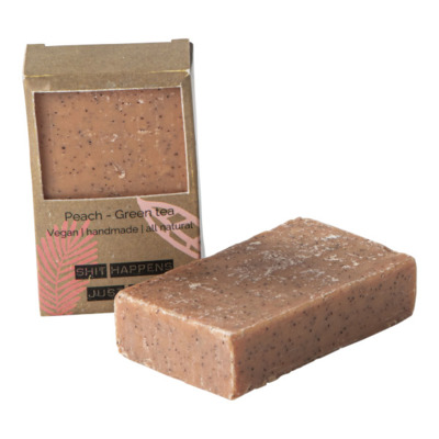 Wellmark Zeep Vegan Soap Bar Peach green tea Coral