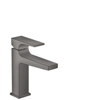 Hansgrohe Metropol 1-gats wastafelkraan 110 m. push open waste m. voorsprong vaste uitloop 13.5cm brushed black chroom 32507340