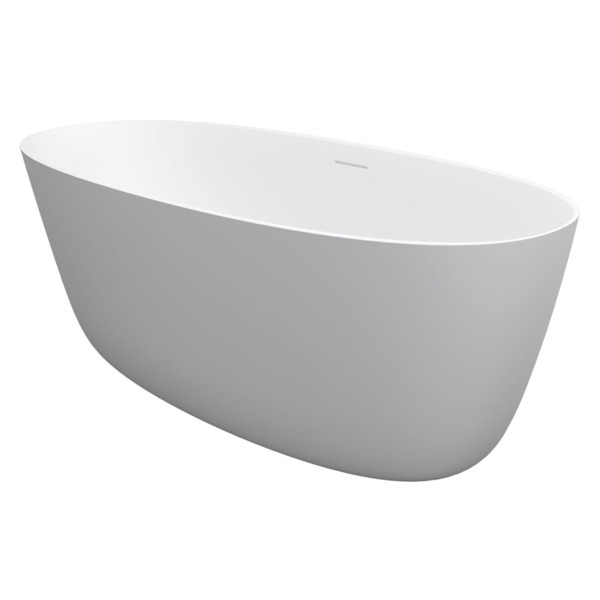 Riho Oval vrijstaand bad 160x72x55cm solid surface incl sifon mat wit SW416725