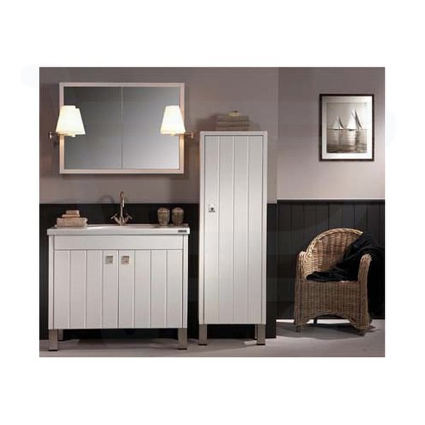 detremmerie giulia meuble avec lavabo 100cm gris pierre 090105sm2. Black Bedroom Furniture Sets. Home Design Ideas