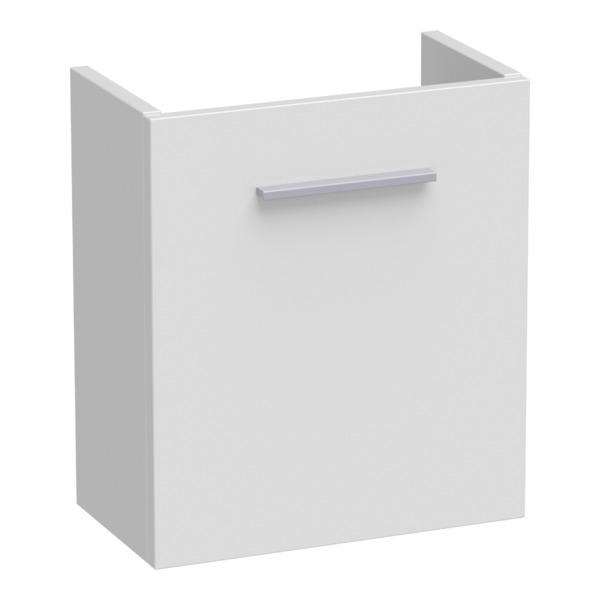 Saniclass Florence fonteinkast rechts met softclose 40x45x21.5cm hoogglans wit SW3037
