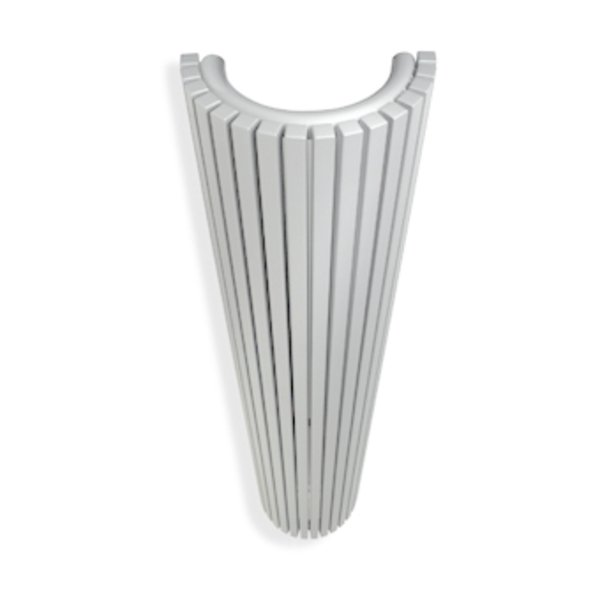 Vasco Carre Halfrond CR O designradiator halfrond verticaal 430x1800mm 1981 watt wit 7240519