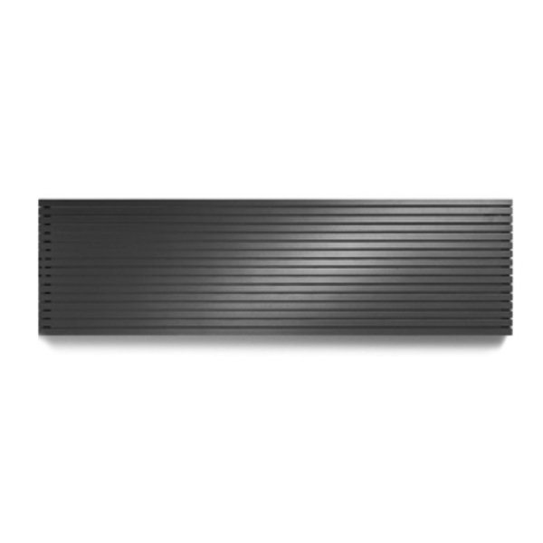Vasco Carre Plan CPHN2 designradiator dubbel 2600x535mm 3003 watt antraciet 7240374
