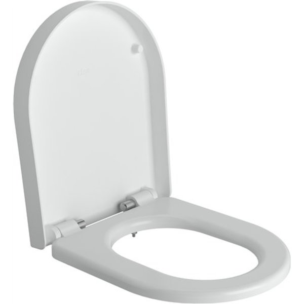 Clou First toiletzitting met deksel soft closing en quick release systeem wit B36xH4.8xD42cm CL/04.0