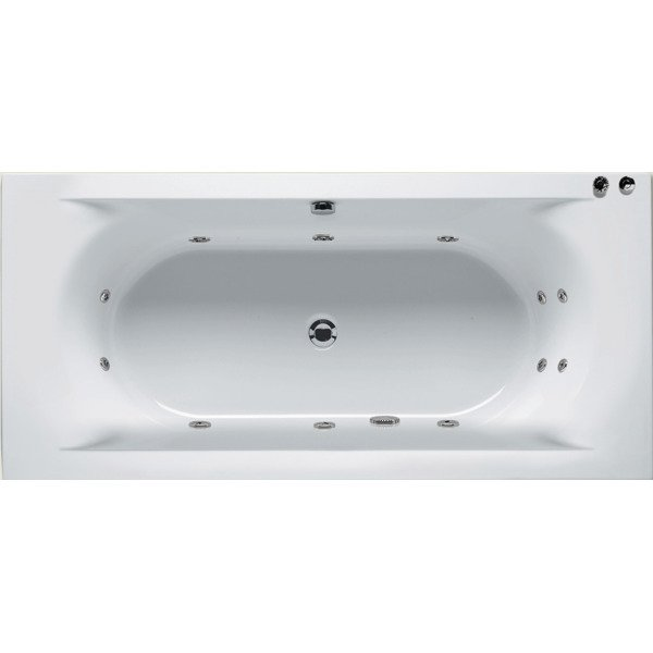 Riho Easypool 3.0 Lima whirlpoolbad 180x80cm pneumatisch wit glans BB4600516PQ0000