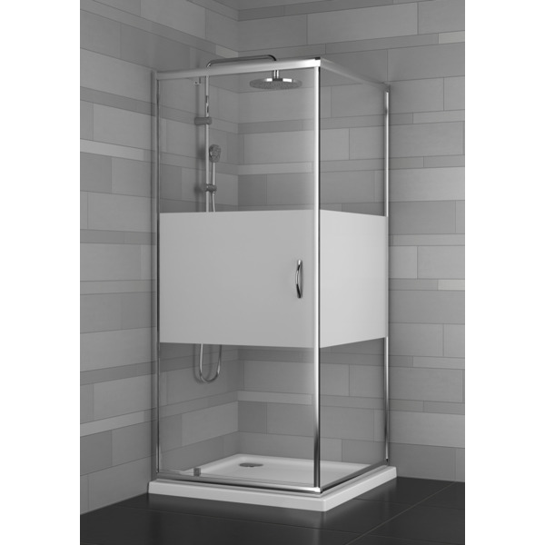 saniscape estrella cabine de douche avec 1 porte pivotante 90x90x190cm chrome avec vitre de. Black Bedroom Furniture Sets. Home Design Ideas