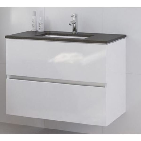 bruynzeel miko meuble sous lavabo 90x50 5 cm blanc brilliant 230936. Black Bedroom Furniture Sets. Home Design Ideas