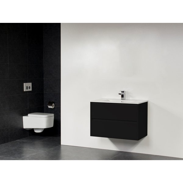 Saniclass New Future XXS Empoli Vasque meuble 80cm sans miroir noir SW27848