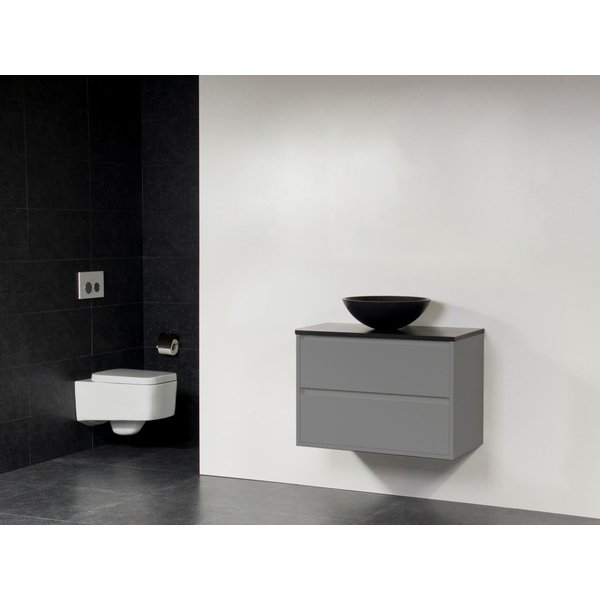 Saniclass New Future XXS Corestone13 asque noir meuble 80cm sans miroir gris SW27818