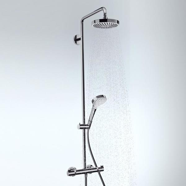 hansgrohe croma select s 180 2jet showerpipe ecosmart met ecostat comfort douchekraan. Black Bedroom Furniture Sets. Home Design Ideas
