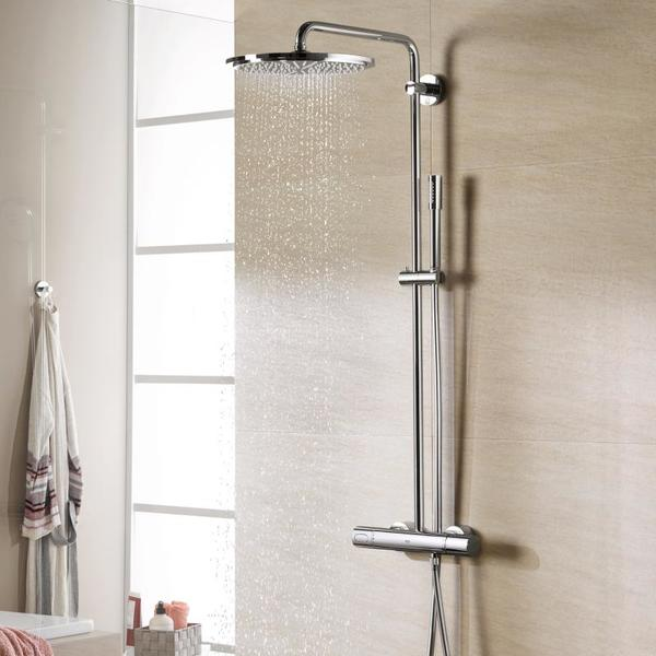grohe rainshower modern douchesysteem met hoofddouche 31cm en handdouche chroom 27966000. Black Bedroom Furniture Sets. Home Design Ideas