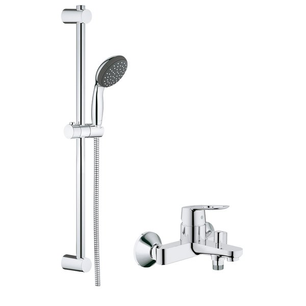 grohe start loop badkraan met omstel met koppelingen met vitalio glijstangset met handdouche. Black Bedroom Furniture Sets. Home Design Ideas