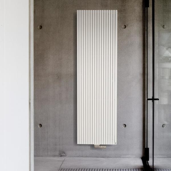 Vasco Carre Plus Plan CPVN1 designradiator enkel 2200x595mm 2447W aansluiting 0018 wit 7211798