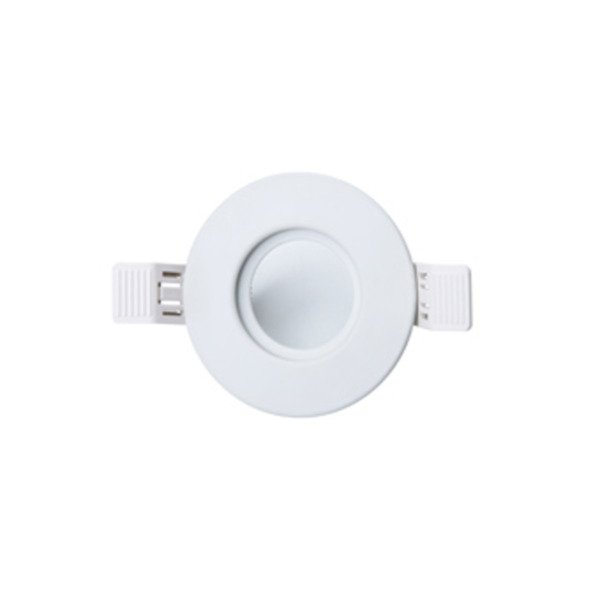 Interlight LED spot set IP65 dimbaar rond 90mm met driver 36° richtbaar wit 4246933