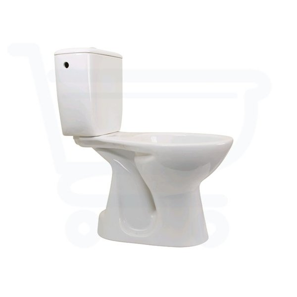 Throne bathrooms c trend wc poser avec connexion derri re blanc for Wc trend