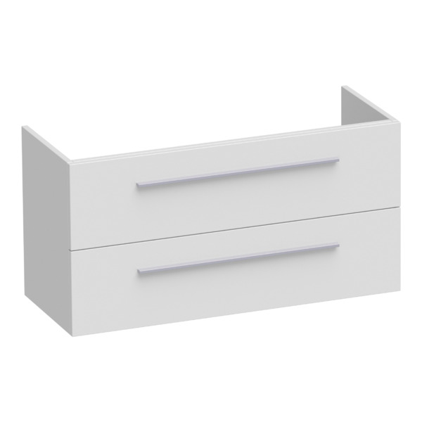 Saniclass Exclusive Line Small onderkast 99x39x50cm 2 lades met softclose MDF hoogglans wit SW3079