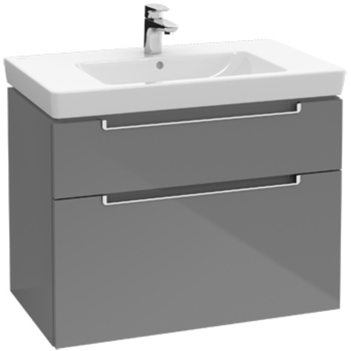 villeroy boch subway 2 0 meuble sous lavabo avec 2 tiroirs pour lavabo. Black Bedroom Furniture Sets. Home Design Ideas