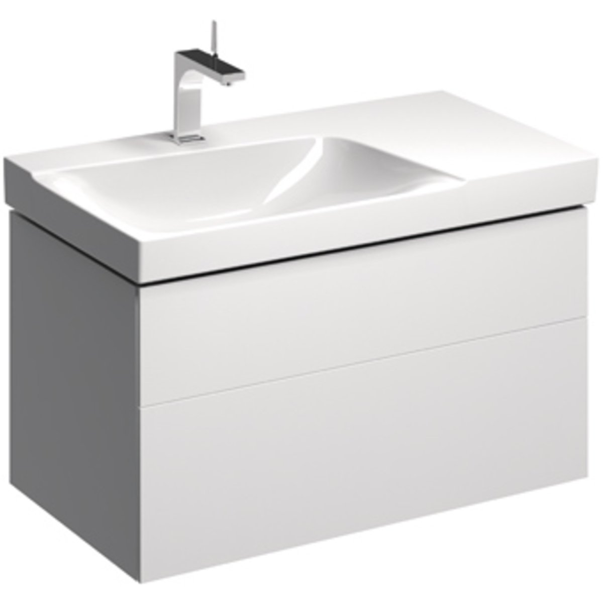sphinx serie 420 new meuble lavabo pour lavabo gauche 90cm avec 2 tiroirs blanc s8m13083000. Black Bedroom Furniture Sets. Home Design Ideas