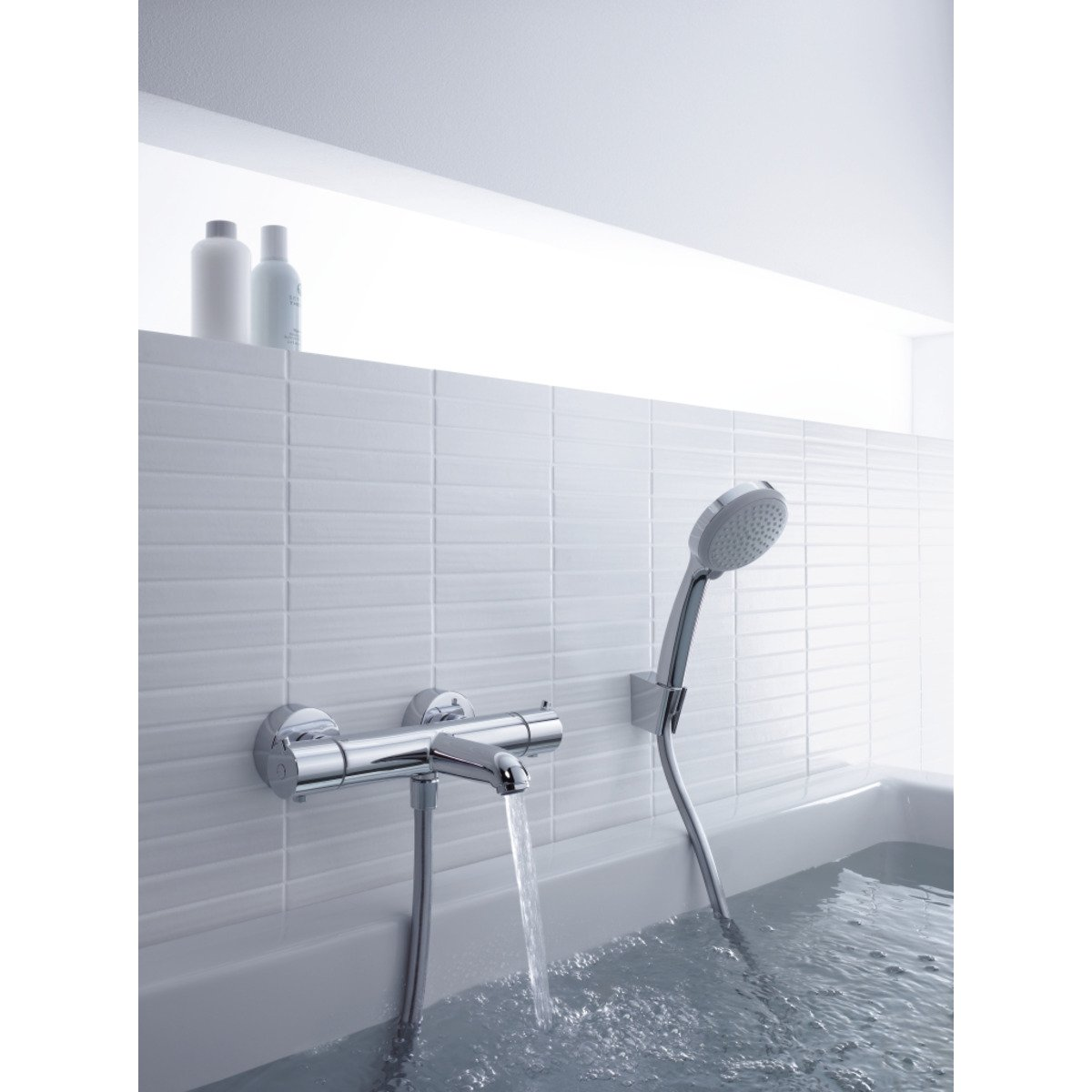 hansgrohe porter s wandhouder met handdouche croma 100 vario met slang 125cm chroom 27592000. Black Bedroom Furniture Sets. Home Design Ideas