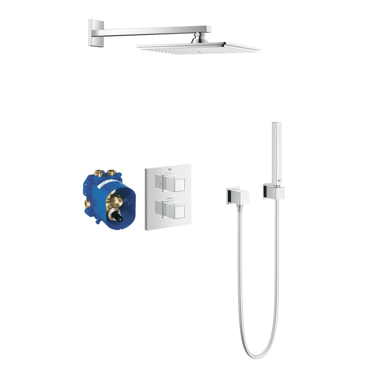 Grohe Cube Perfect Colonne De Douche Encastrable Avec Set De