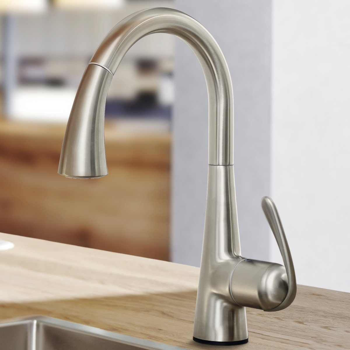 Grohe zedra touch robinet de cuisine lectronique avec bec for Robinet de cuisine avec douchette grohe