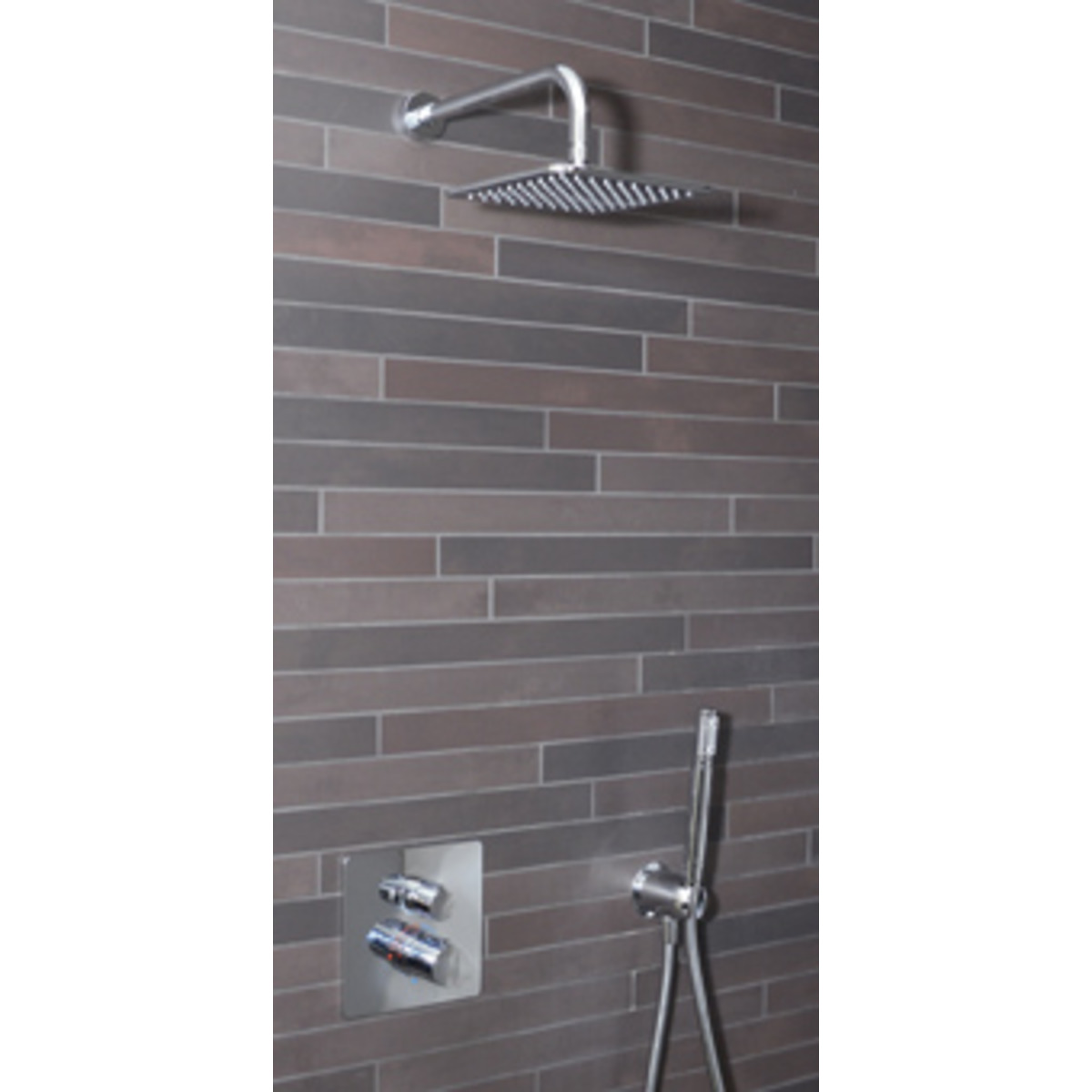 ideal standard showerpack easy box slim colonne de douche thermostatique encastrable avec douche. Black Bedroom Furniture Sets. Home Design Ideas