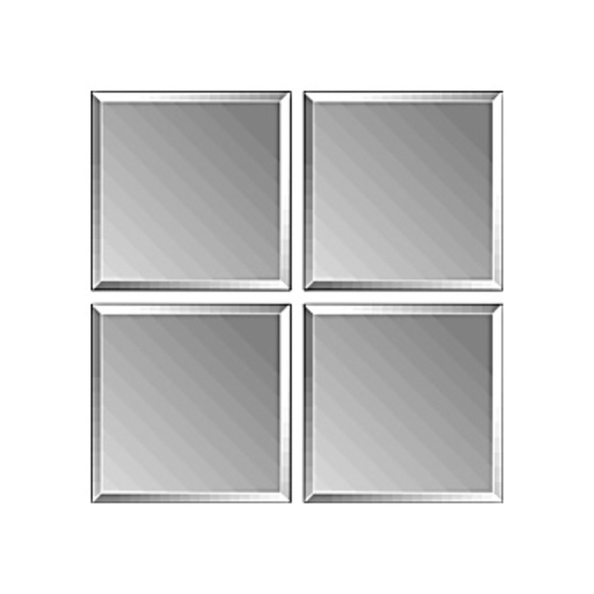 plieger tiles miroir carreaux 3mm 30x30cm par 4 avec biseau et autocollant argent 4350020. Black Bedroom Furniture Sets. Home Design Ideas