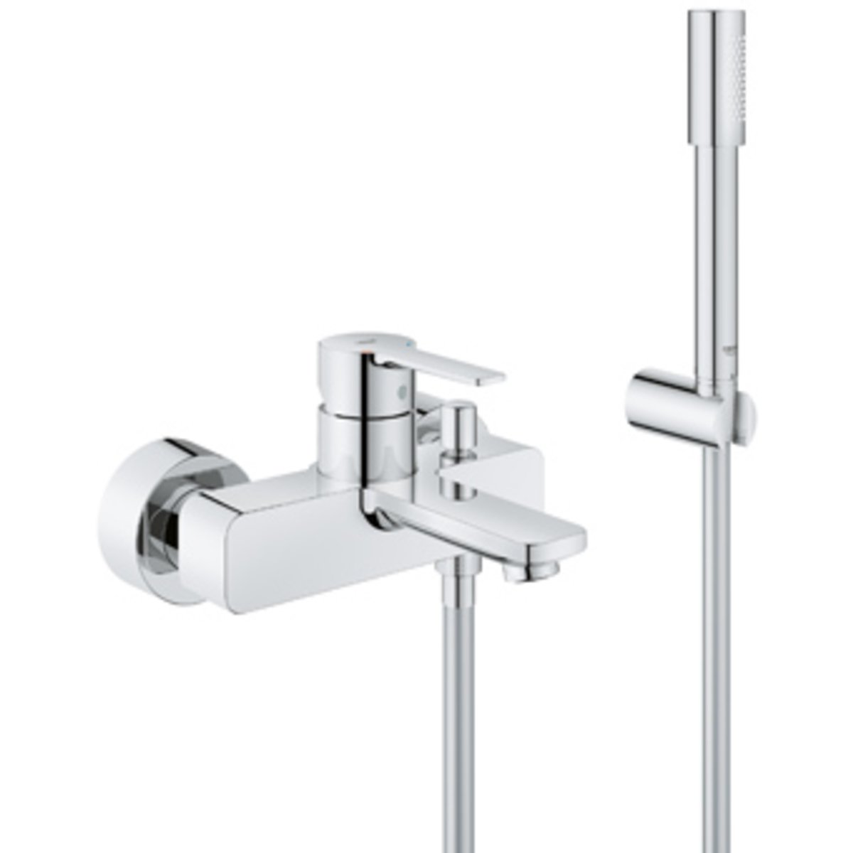 Grohe lineare new mitigeur bain mural avec inverseur et for Mitigeur mural grohe