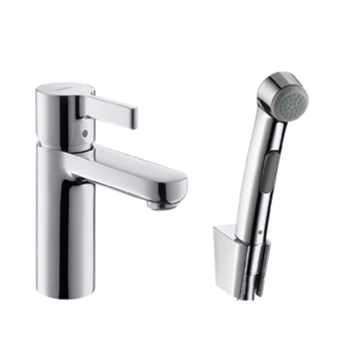 hansgrohe metris s robinet pour lavabo avec douchette de bidet chrome 31160000. Black Bedroom Furniture Sets. Home Design Ideas