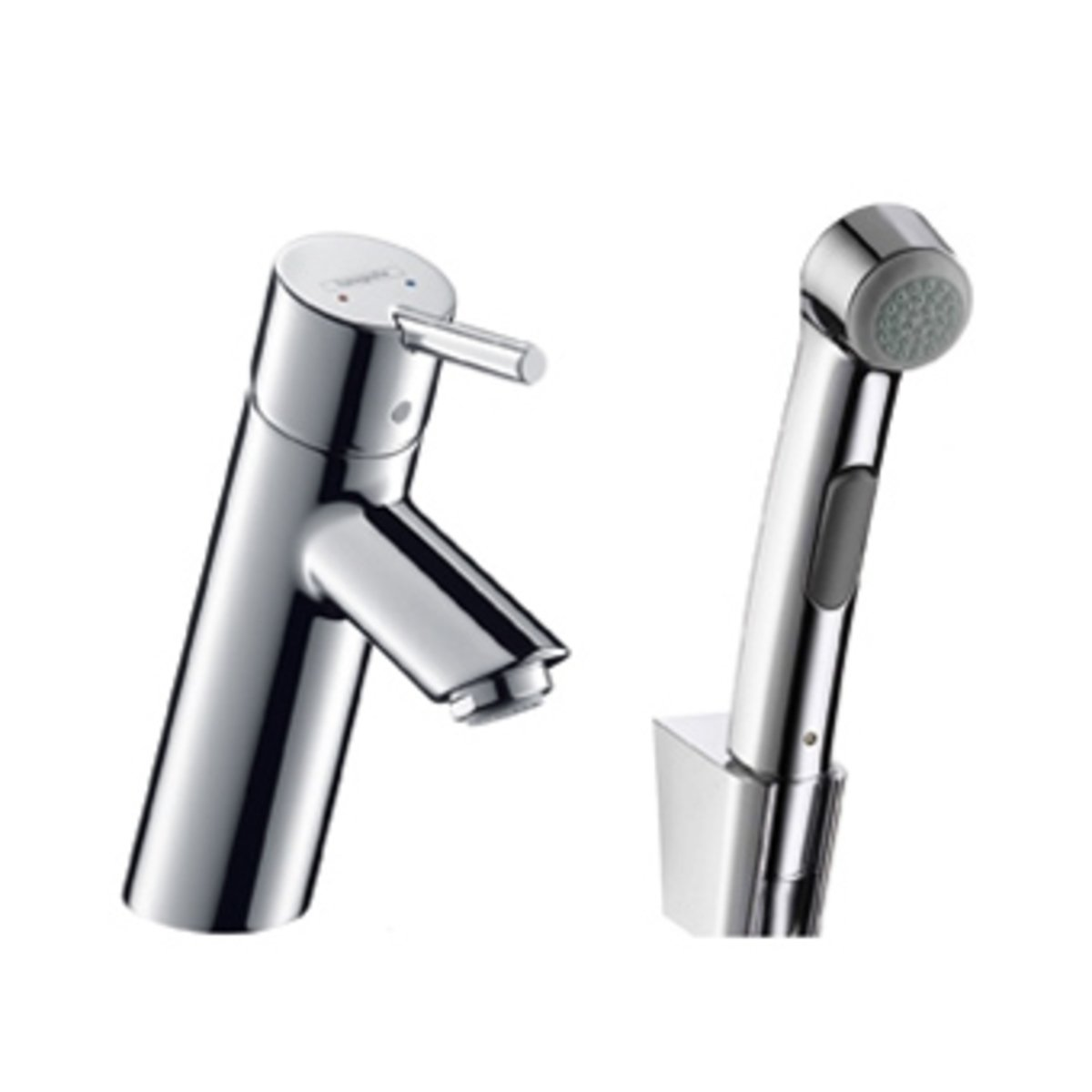 hansgrohe talis s2 wastafelkraan met bidetdouche chroom 32140000. Black Bedroom Furniture Sets. Home Design Ideas