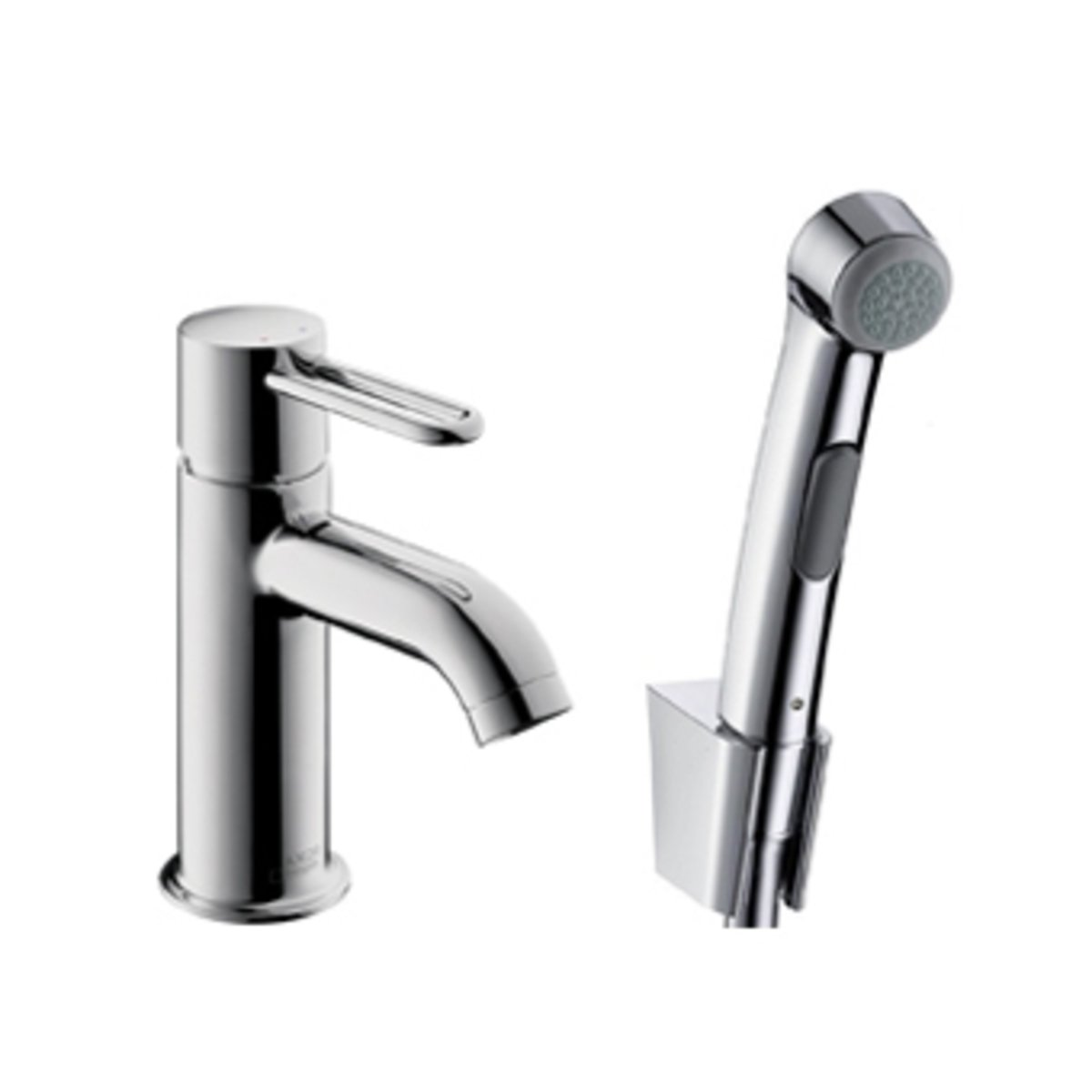 hansgrohe axor uno 2 robinet pour lavabo 1poign e avec douchette de bidet chrome 38225000. Black Bedroom Furniture Sets. Home Design Ideas