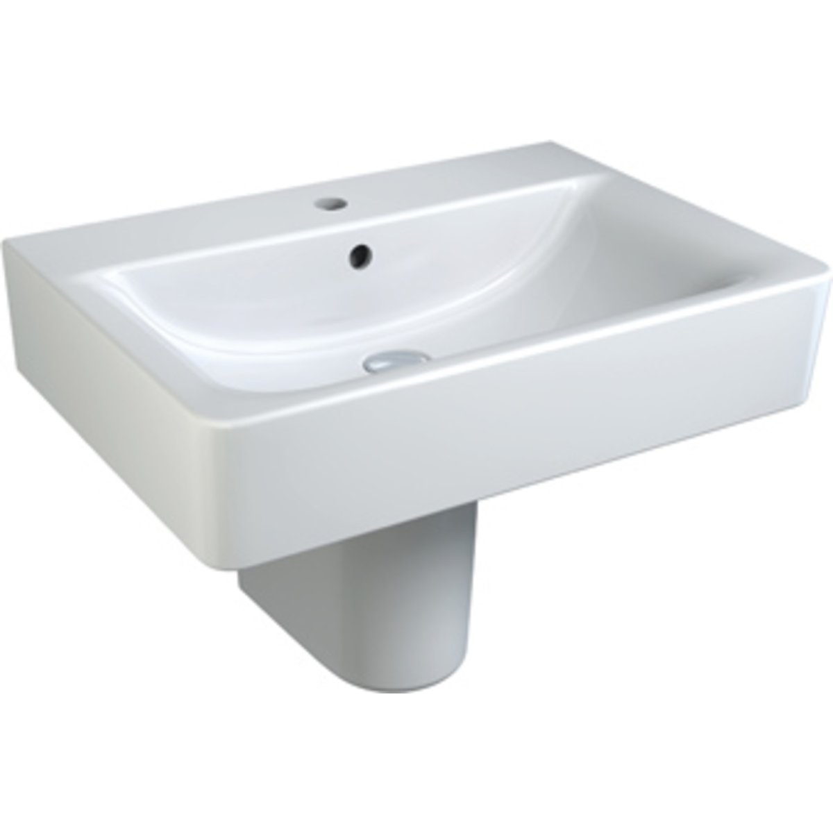 Ideal standard connect cube lavabo 65x46cm ideal plus for Ideal standard connect