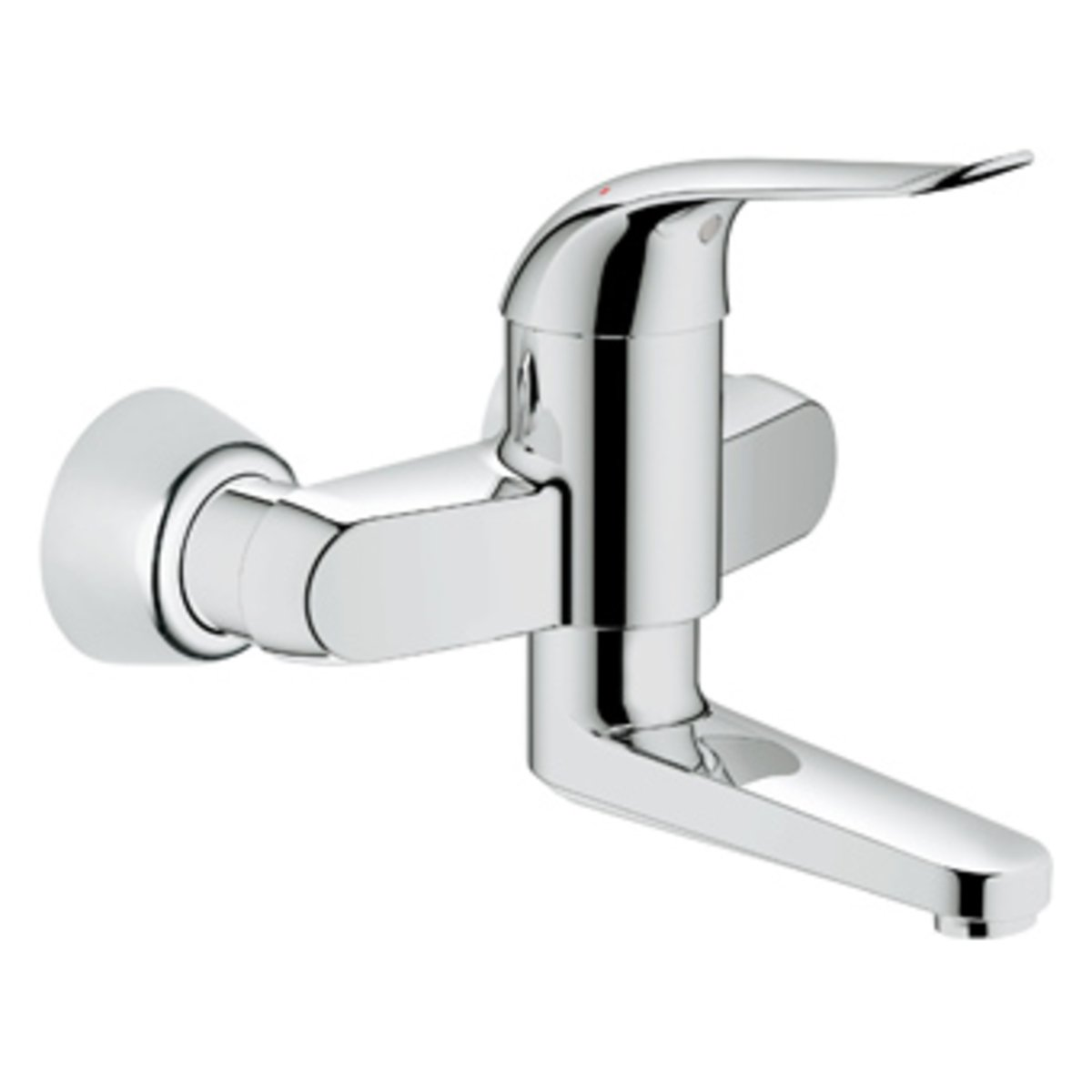 Grohe euroeco robinet mural avec connexions entraxe 15cm for Robinet mural grohe