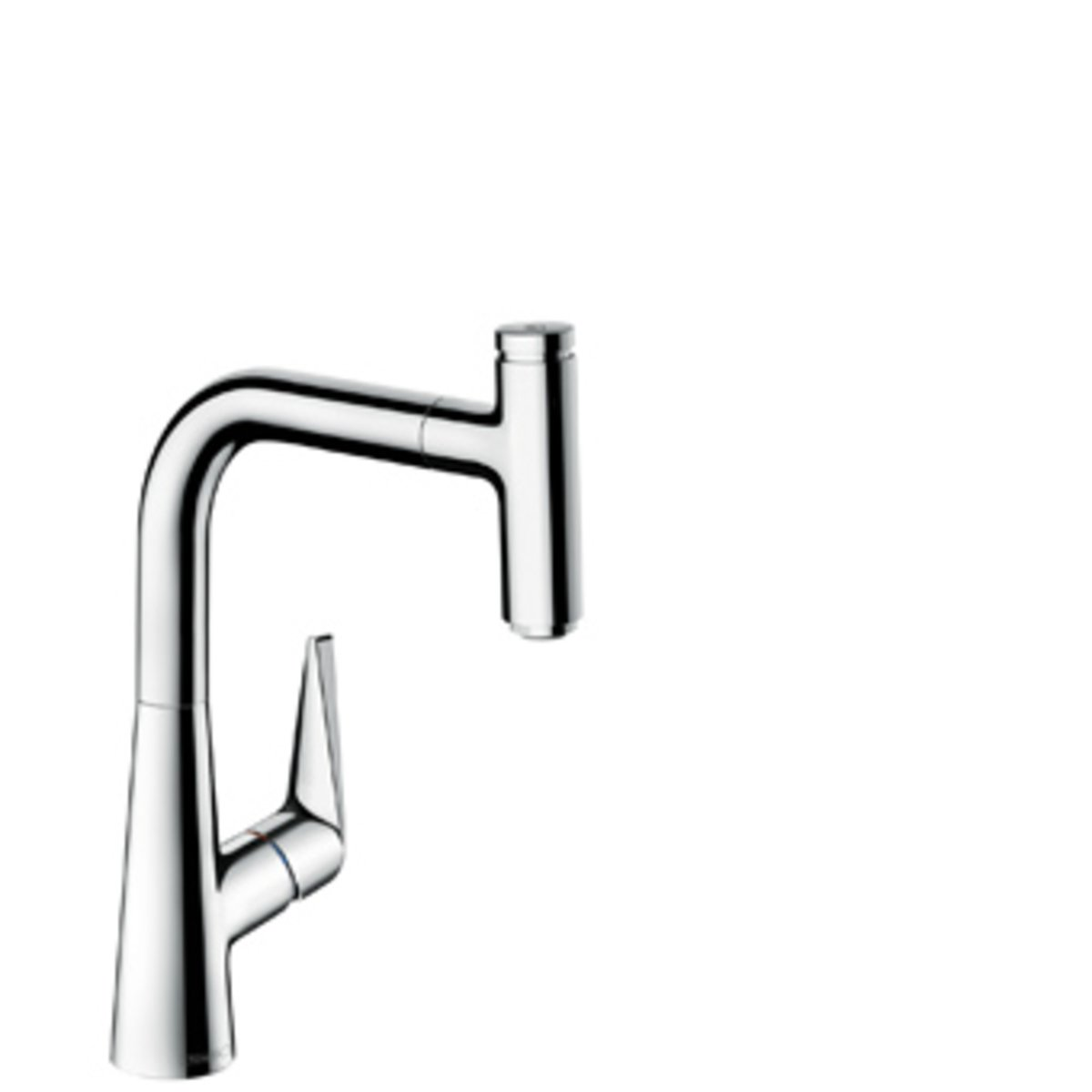 hansgrohe talis select s robinet de cuisine 22cm avec douchette extractible et bec rotatif 150. Black Bedroom Furniture Sets. Home Design Ideas