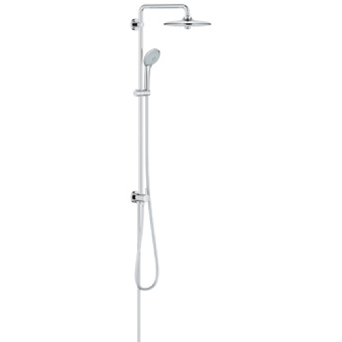 grohe euphoria douche pluie 26cm avec inverseur et douchette euphoria massage chrome 27421002. Black Bedroom Furniture Sets. Home Design Ideas