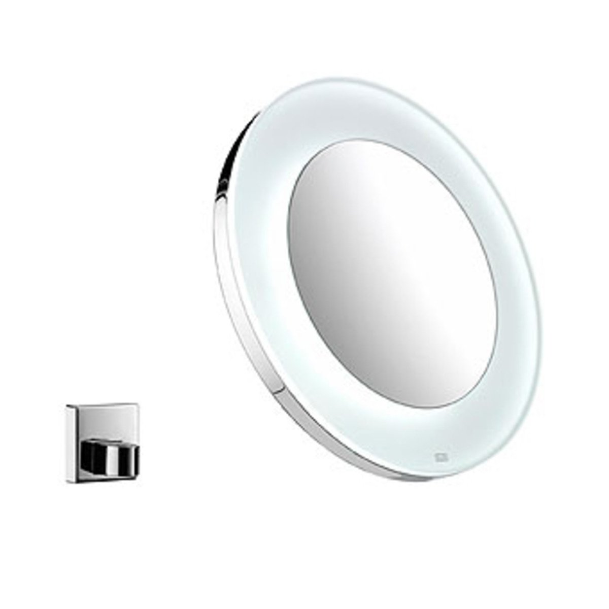 emco miroir grossissant rond avec clairage led avec support mural chrome 109600113. Black Bedroom Furniture Sets. Home Design Ideas