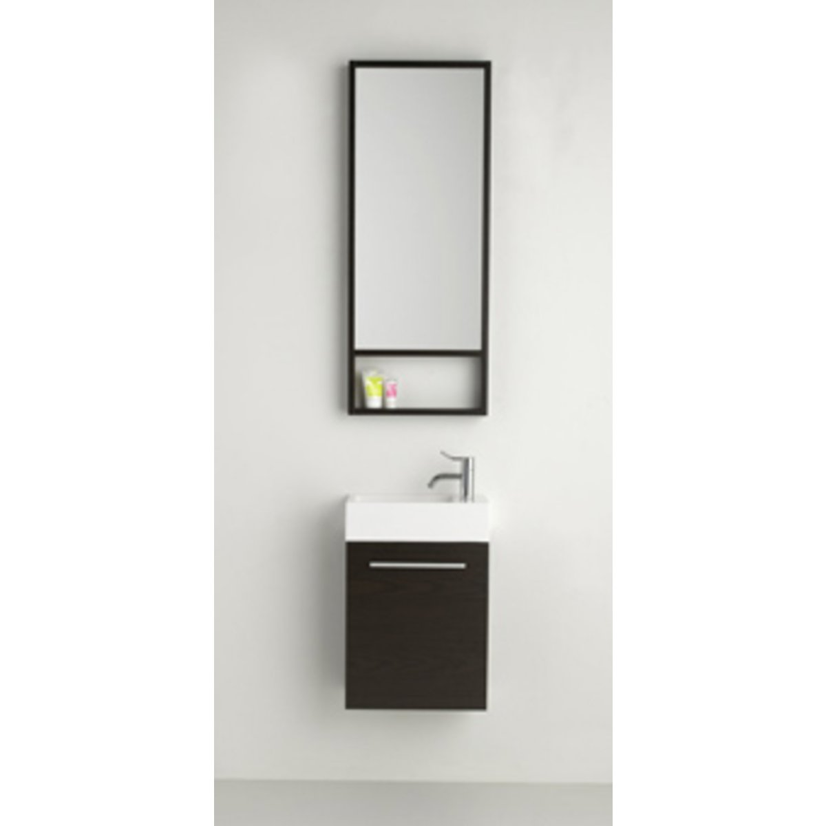 plieger slim toiletmeubel 40cm met spiegel wenge 0957171. Black Bedroom Furniture Sets. Home Design Ideas
