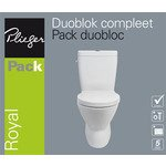plieger royal wc pack diepspoel met keramisch reservoir dual flush universeel met closetzitting wit wc pack universeel wit df