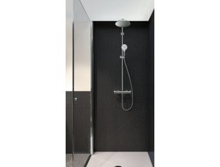 Hansgrohe Crometta s 240 1jet showerpipe met thermostaat ecosmart chroom SHOWROOM SHOW6131